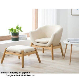 Kursi Sofa Santai Jok Warna Cream